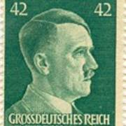 Adolf Hitler 42 Pfennig Stamp Classic Vintage Retro Art Print