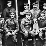 Adolf Hitler With  Fellow Soldiers From The List Regiment  Number Two Circa 1916 Art Print