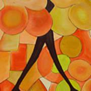 Adolscent Sisters Talk Art Print