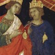 Adoration Of The Magi Fragment 1311 Art Print