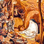 Adoration Of The Shepherds Nativity Art Print