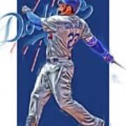 Adrian Gonzalez Los Angeles Dodgers Oil Art Art Print