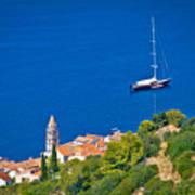 Adriatic Town Of Vis Sailing Destination Waterfront Art Print