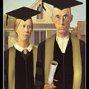 Adult Graduates Art Print