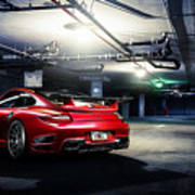 Adv1 Red Porsche 2 Art Print