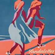 Advertisement For Bally Sandals Art Print