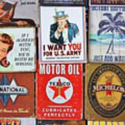 Advertising Signs Display Art Print