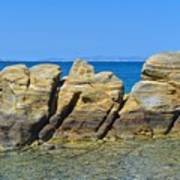 Aegean Rocks Art Print