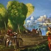 Aeneas And Achates On The Libyan Coast 1520 Art Print