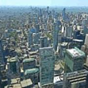 Aerial Abstract Toronto Art Print