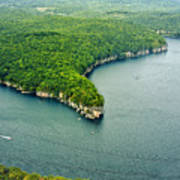 Aerial Image Of  Long Point Cliff Art Print