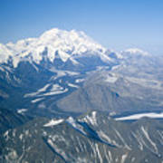 Aerial Of Mount Mckinley Art Print