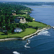Aerial Of The Breakers, A Mansion Built Art Print