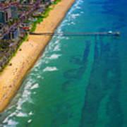 Aerial Over Deerfield Beach Art Print