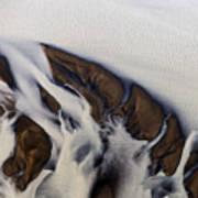 Aerial Photo Thjosa Iceland Art Print