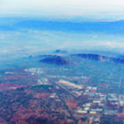 Aerial Usa. Los Angeles, California Art Print