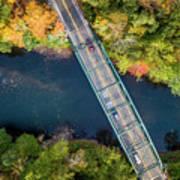 Aerial View Of A Bridge Art Print