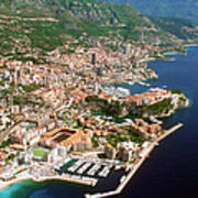Aerial View Of A City, Monte Carlo, Monaco, France Art Print by Medioimages/Photodisc