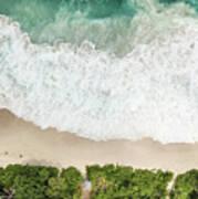 Aerial View Of Anse Intendance - Mahe - Seychelles Art Print