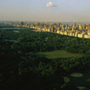 Aerial View Of Central Park, An Oasis Art Print