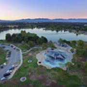 Aerial View Of Lake Balboa Park  Art Print