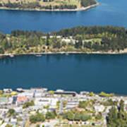 Aerial View Of Queenstown In New Zealand Art Print