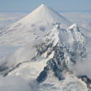 Aerial View Of Shishaldin Volcano Art Print by Richard Roscoe