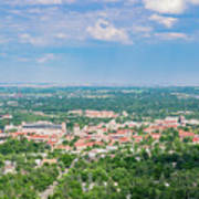 Aerial View Of The Beautiful University Of Colorado Boulder Art Print