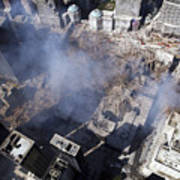 Aerial View Of The Destruction Where Art Print