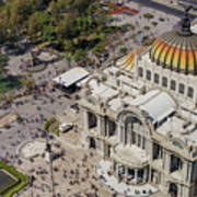 Aerial View Of The Palace Of Fine Arts Art Print