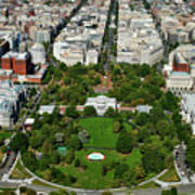 Aerial View Of The White House Art Print
