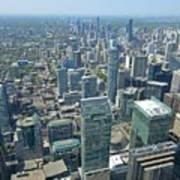 Aerial View Of Toronto Looking North Art Print
