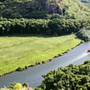 aerial view of Wailua River Art Print