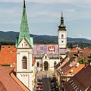 Aerial View Of Zagreb In Croatia Art Print
