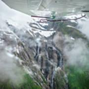 Aerial Waterfall Art Print
