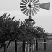 Aermotor Windmill San Joaquin County Ca Art Print