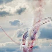 Aerobatic Group Formation  At Blue Sky Art Print