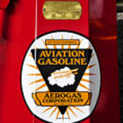 Aerogas Red Pump Art Print