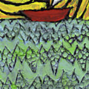 Afloat On The Bubbling Sea Art Print