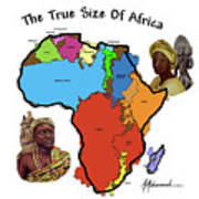 Africa In Perspective Art Print