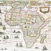 Africa Nova Map Art Print