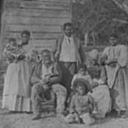 African American Slave Family Art Print by Everett