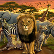 African Beasts Art Print by Andrew Farley