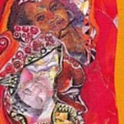 African Crown Art Print