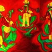 African Dancers Art Print