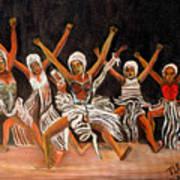 African Dancers Art Print by Pilar  Martinez-Byrne