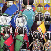 African Dolls Art Print