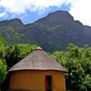 African Hut South Africa Art Print