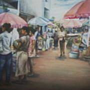 African Market Art Print