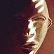 African Mask With Sunlight  Art Print